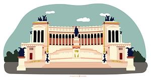 Piazza Venezia vector