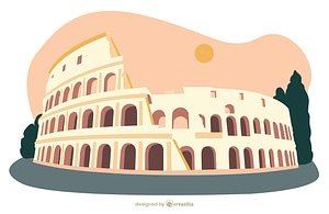 The Colosseum vector
