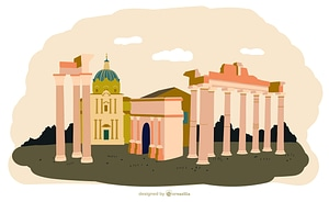 The Roman Forum vector