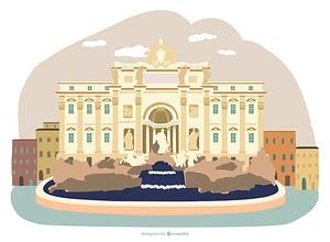Trevi Fountain vector