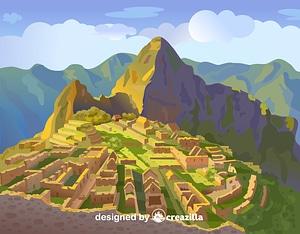 Machu Picchu矢量图像