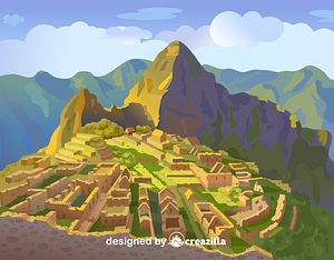 Machu Picchu vektor