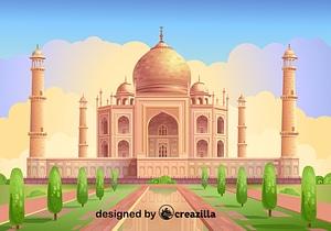 Векторное изображение: Taj Mahal