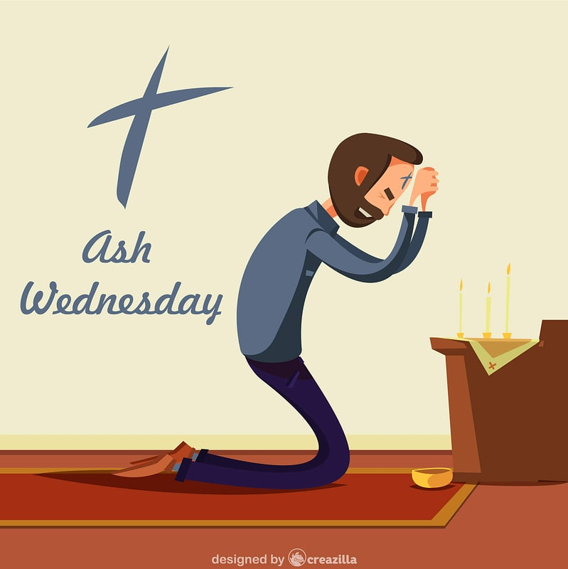 Ash wednesday vector