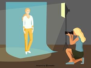Photographer vector
