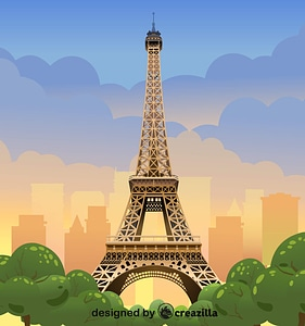 Eifel tower vector