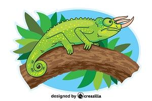 Trioceros Chameleon vector