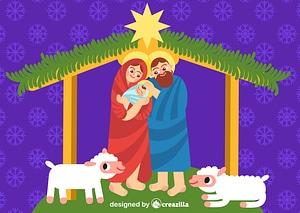 Christmas nativity vector