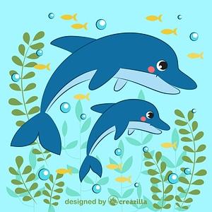 Dolphins ベクターイメージ狐