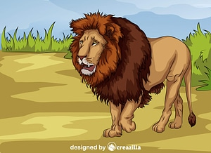 African Lion vector