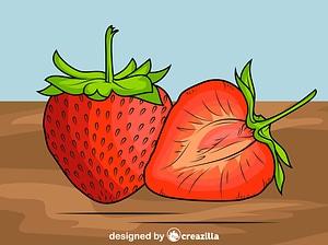 Fresh Strawberry vector