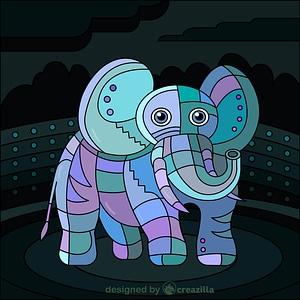 Steampunk Elephant vector